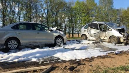 Крупная авария под Могилевом: столкнулись три авто, погибла водитель, четверо серьезно травмированы