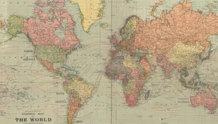 Карта мира 1922 года с «несуществующими» государствами потрясла Сеть