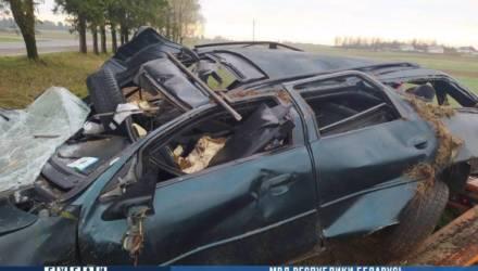Под Могилевом молодой водитель опрокинул Ford в кювет: пострадали два человека