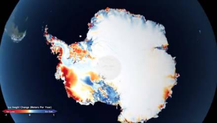 NASA на видео показало масштабы таяния ледников в Антарктиде