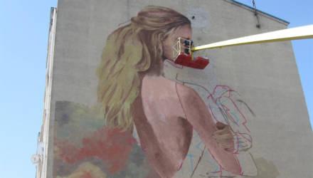 В Могилеве художники расписывают фасады домов