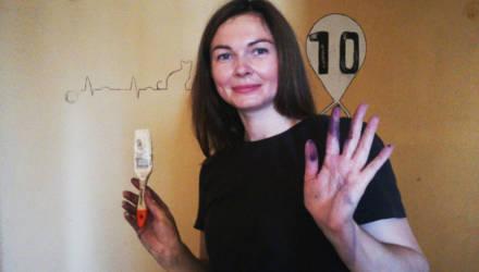 В Могилеве расписывают подъезды домов, в которых живут медики