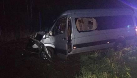 Микроавтобус влетел в бетономешалку в Осиповичском районе — пострадала пассажирка
