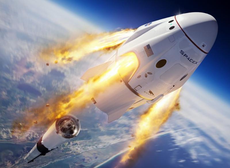 Во время выхода корабля Илона Маска заметили НЛО