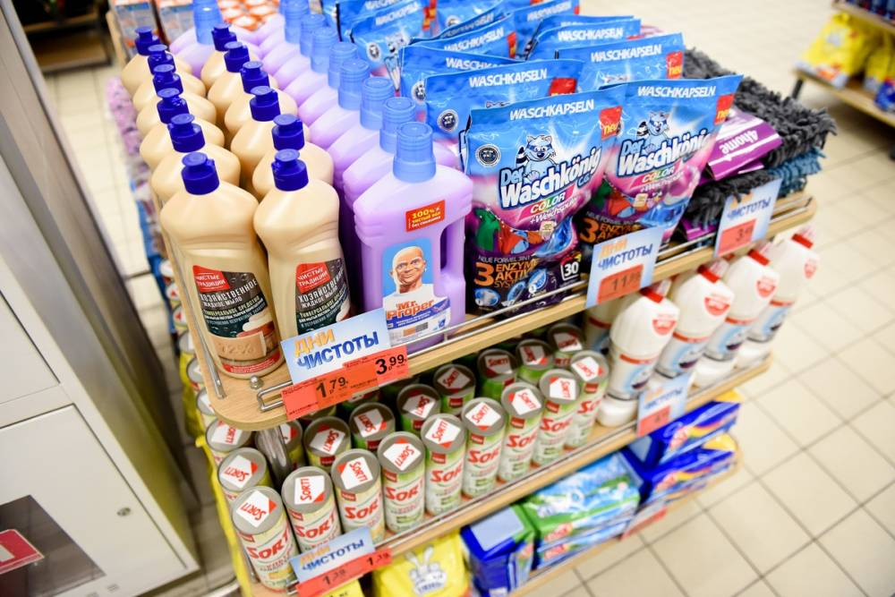 В «Евроопте» скидки до 50% на бытовую химию и товары для дома